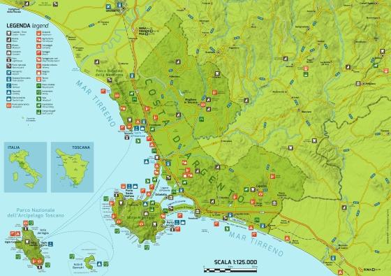 Mappa Turistica Retro
